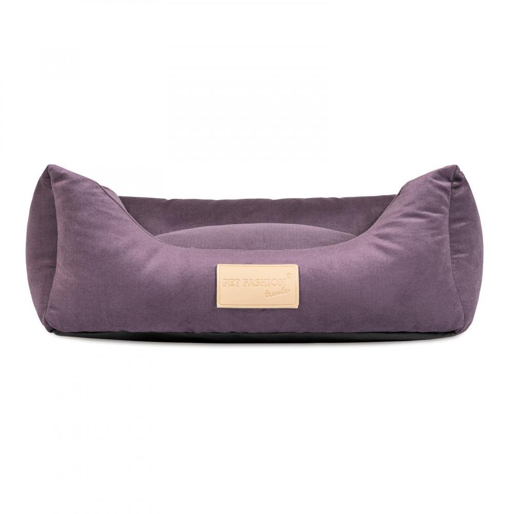 """Лежак """"MOLLY"""" № 1 (52*40*17) фиолетовый"""