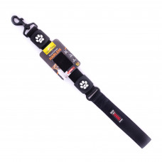 Поводок HARLEM BUNGEE двухслойный неопрен+нейлон с ручкой 3.8*55см, черный