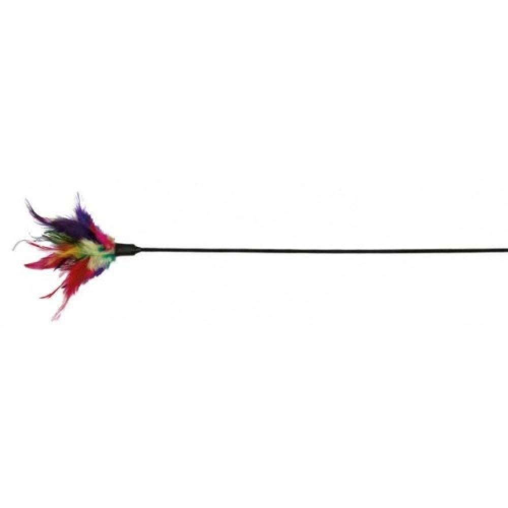 "Дразнилка для кошек ""Палочка с перьями"" 50 см Trixie (4106)"