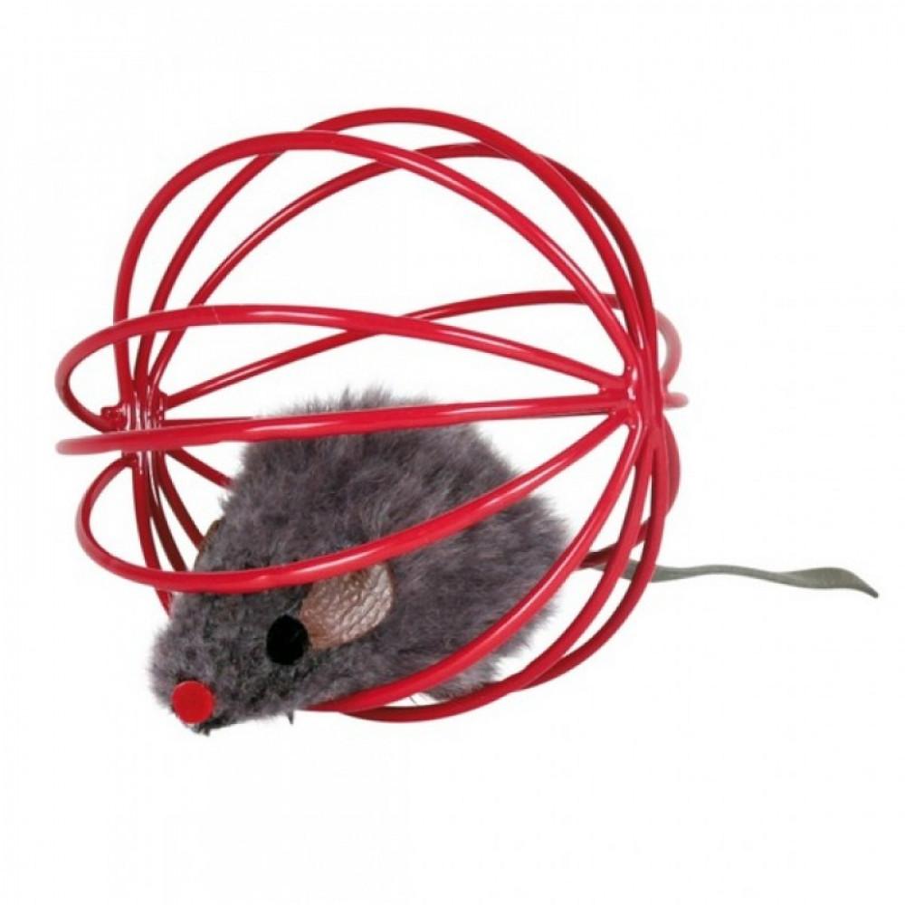 """Игрушка """"Мышка"""" для кошки в клетке 6 см Trixie (4115)"""