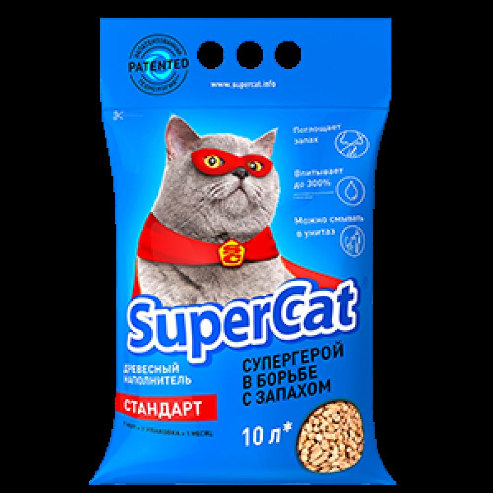 Древесный наполнитель для кошачьего туалета Supercat Стандарт