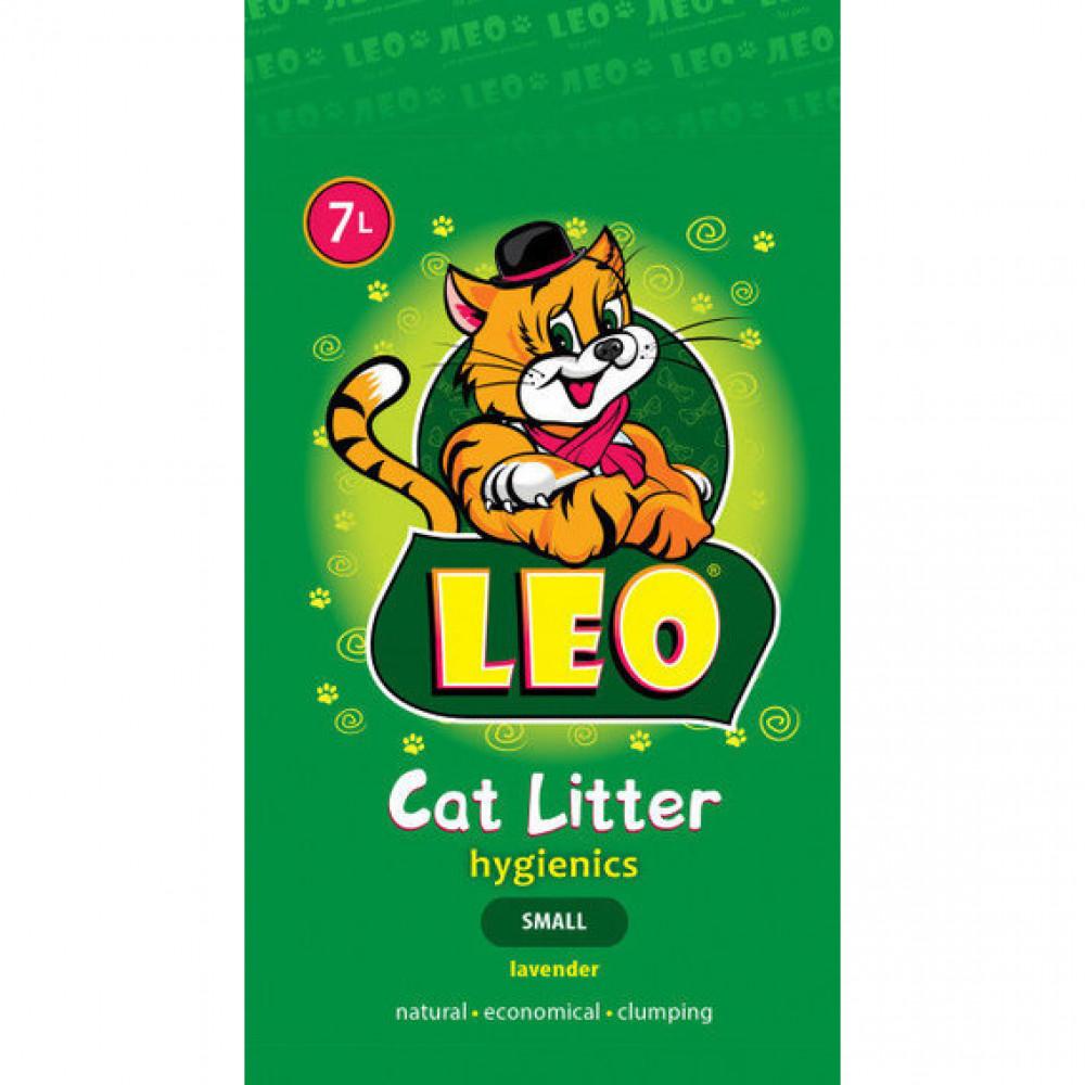 """Наполнитель для кошачьего туалета """"Лео"""" мелкий с лавандой 5кг"""