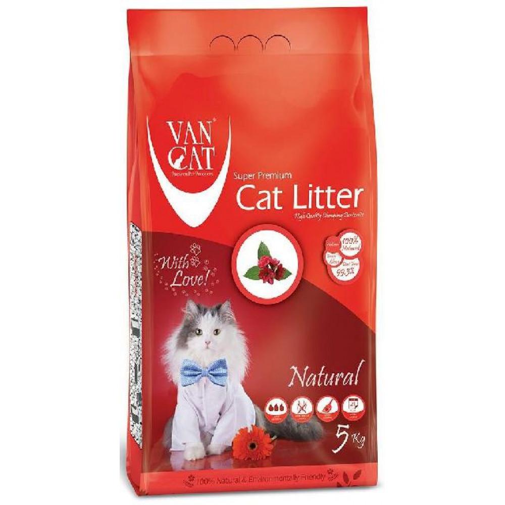 VanCat Natural наполнитель для кошачьего туалета бентонитовый 5 кг