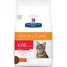 Лечебный корм Хиллс для кошек – Hill's Prescription Diet Feline c/d Multicare Stress Стресс, струвиты, оксалаты, цистит (курица)