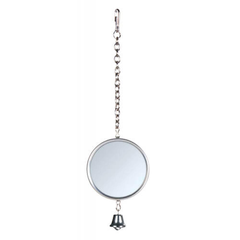 Зеркало для попугая круглое металл. с колокольчиком Trixie (5221)
