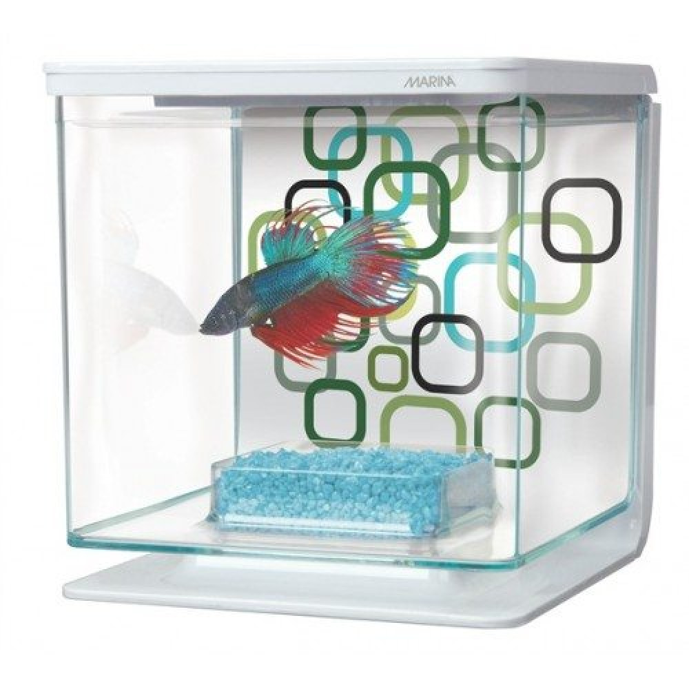 Аквариум для петушка MARINA Betta Geo Bubbles Kit 2,5 л