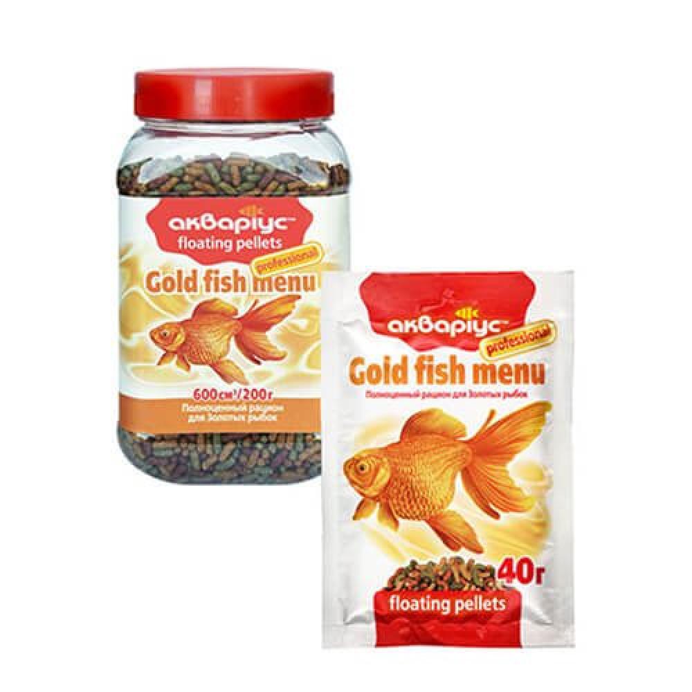 Корм для золотых рыбок, Аквариус 40 г
