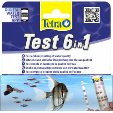 Тест для воды в аквариуме Tetra Test 6in1 (полоски)
