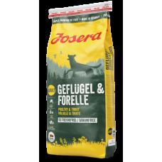 Josera Geflugei & Forelle корм для собак домашняя птица, форель 15 кг