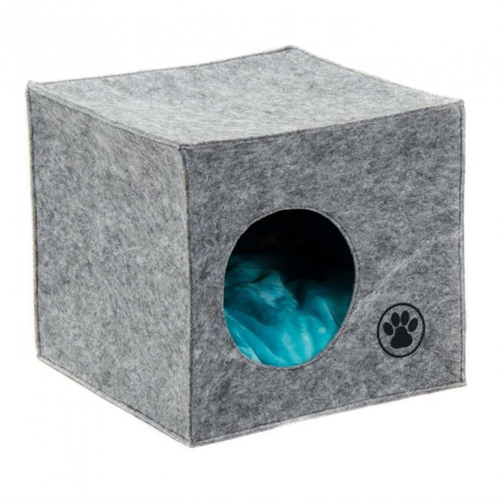 Дом-лежак для собак и кошек «Грей» 39х39х36 см
