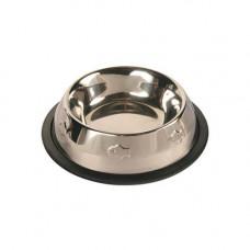 Металлическая миска для кошки на резинке TRIXIE 0.2 л (2469)