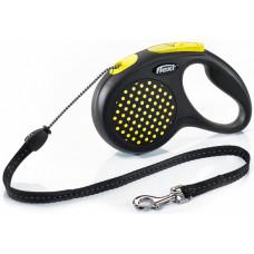 """Рулетка для собак """"FLEXI"""" DESIGN S до 12 кг 5 метров (трос)"""