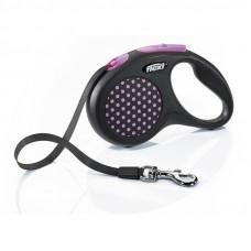 """Рулетка для собак """"FLEXI"""" DESIGN L до 50 кг 5 метров (лента)"""