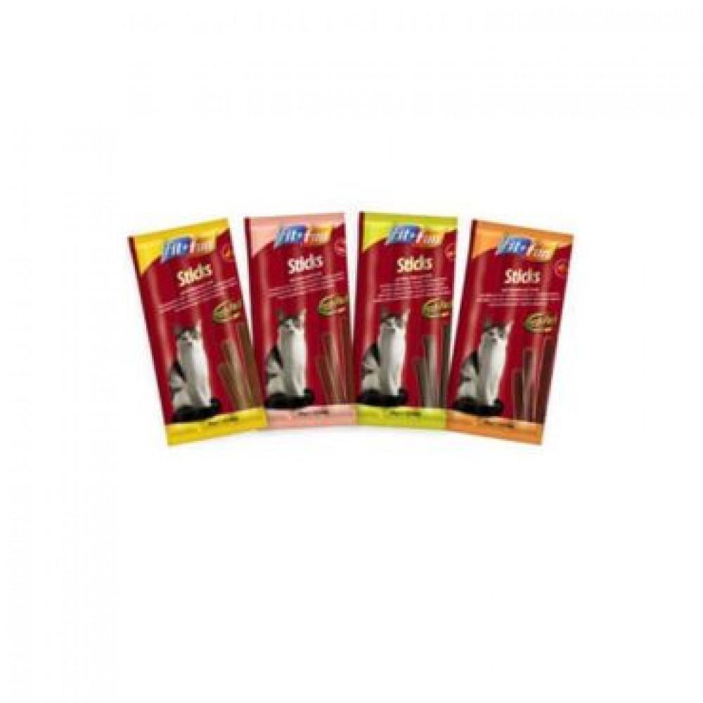Fit Fun Sticks палочки для котов с домашней птицей и печенью 10 шт
