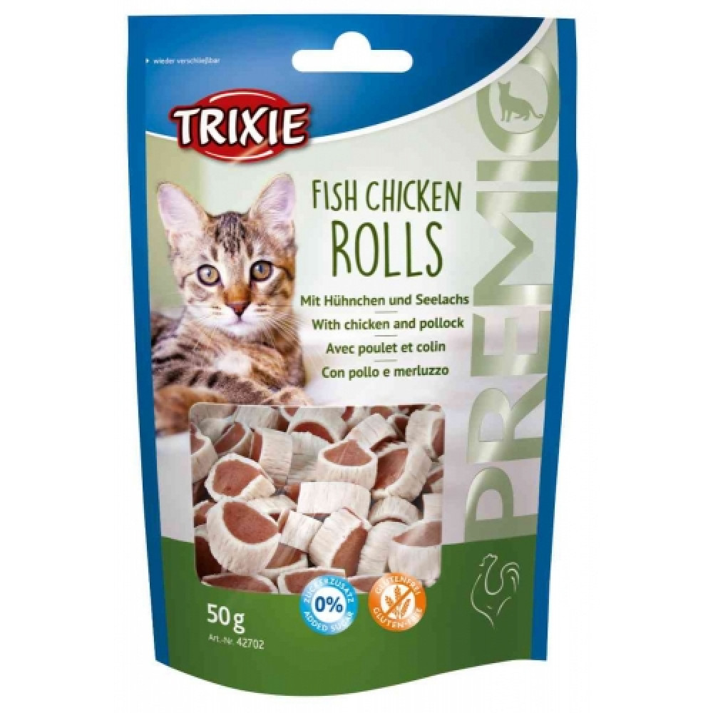 Лакомства для кошек Trixie Esquisita Premio с курицей и минтаем (42702)