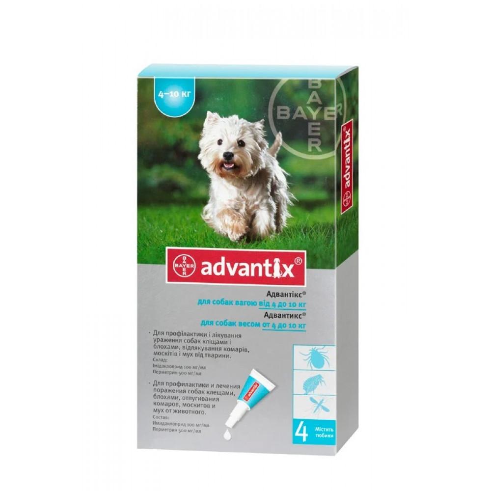 Капли Адвантикс (Advantix) от блох и клещей для собак 4-10 кг, Bayer