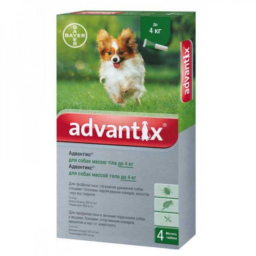 Капли Адвантикс (Advantix) от блох и клещей для собак до 4 кг, Bayer