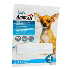 """Капли от блох и клещей для собак от 1.5 до 4 кг """"Animall"""""""