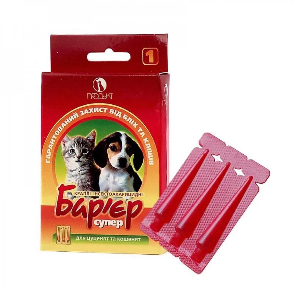 Капли от клещей и блох для щенков и котят Барьер, Продукт