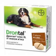 Дронтал Плюс XL (Drontal plus XL) Антигельминтик с вкусом мяса для собак (1 таб)