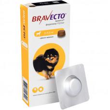 BRAVECTO (Бравекто) – Жевательная таблетка от клещей и блох для собак весом от 2 до 4,5 кг (1 таб.)