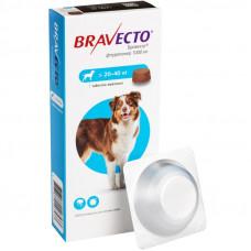 BRAVECTO (Бравекто) – Жевательная таблетка от клещей и блох для собак весом от 20 до 40 кг (1 таб.)