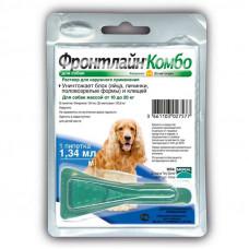 Frontline Combo (Фронтлайн Комбо) Spot On M Капли на холку для собак от клещей и блох 10-20 кг
