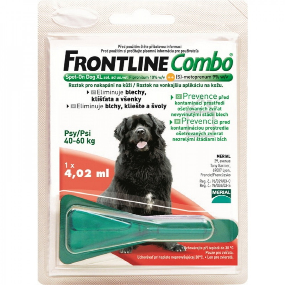 Frontline Combo (Фронтлайн Комбо) Spot On XL Капли на холку для собак от клещей и блох 40-60 кг