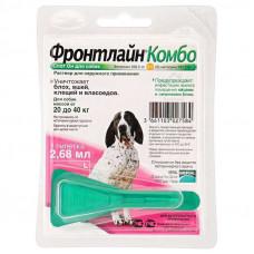 Frontline Combo (Фронтлайн Комбо) Spot On L Капли на холку для собак от клещей и блох 20-40 кг