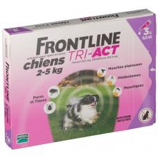 Капли Фронтлайн (Frontline TRI-ACT) от клещей, блох и комаров для собак весом от 2 до 5 кг