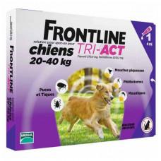 Капли Фронтлайн (Frontline TRI-ACT) от клещей, блох и комаров для собак весом от 20 до 40 кг