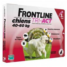 Капли Фронтлайн (Frontline TRI-ACT) от клещей, блох и комаров для собак весом от 40 до 60 кг