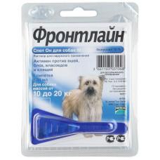 Капли Фронтлайн (Frontline) от клещей и блох для собак весом от 10 до 20 кг