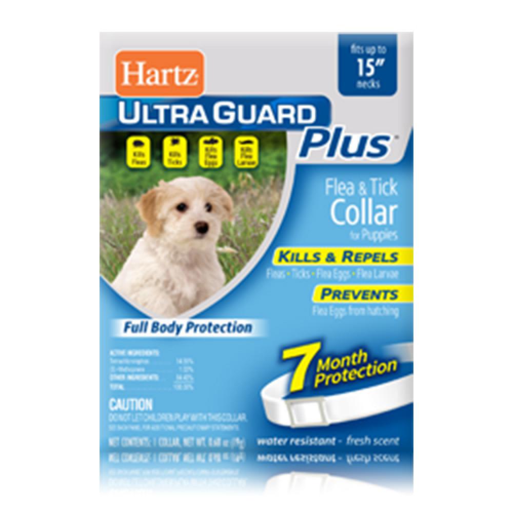 Hartz UltraGuard PLUS Flea & Tick Collar for Pappies Ошейник против блох, яиц блох и клещей для щенков 38 см