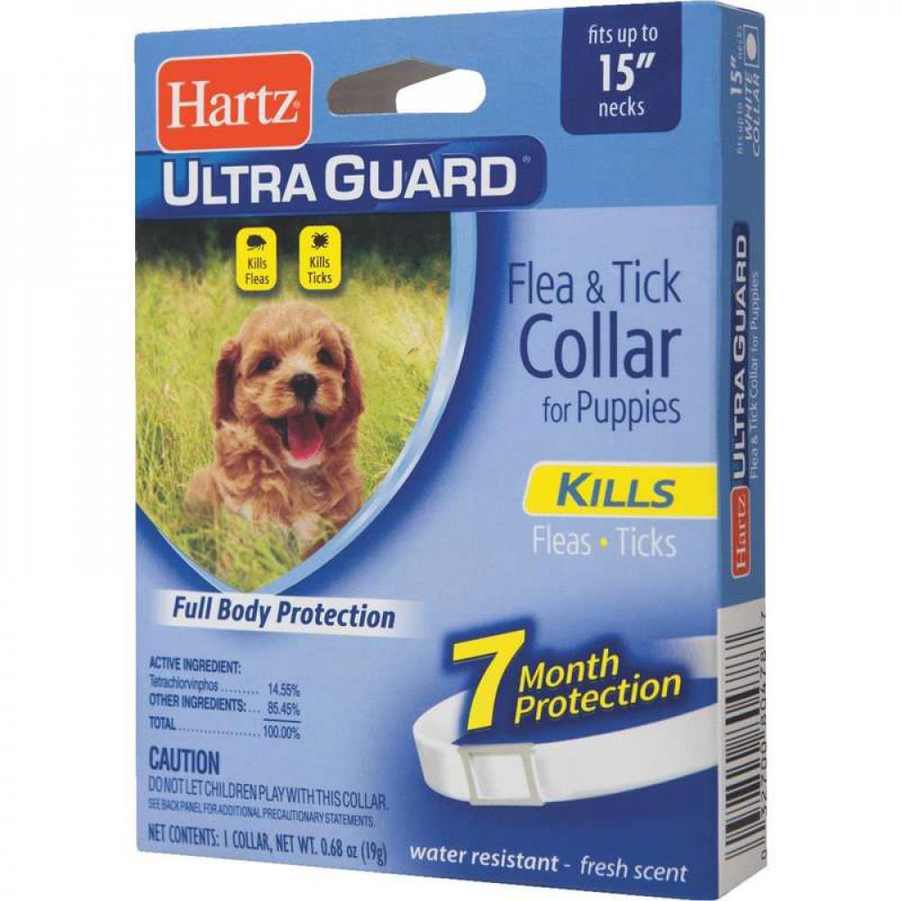 Ошейник Hartz UltraGuard против блох и клещей для щенков с 6-ти месяцев 38 см
