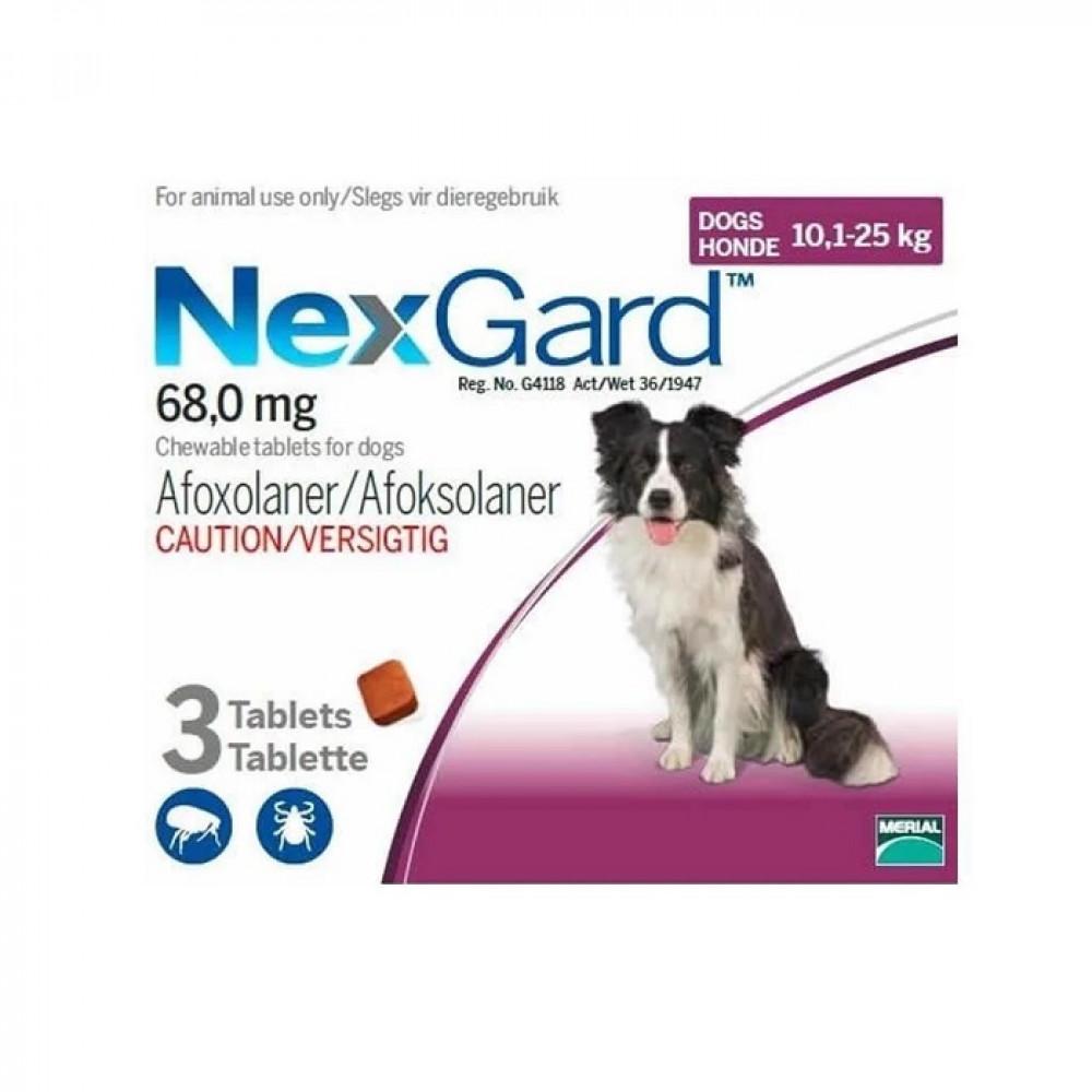 Нексгард Таблетки от блох и клещей для собак от 10 до 25 кг