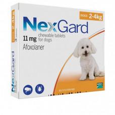 Нексгард Таблетки от блох и клещей для собак от 2 до 4 кг