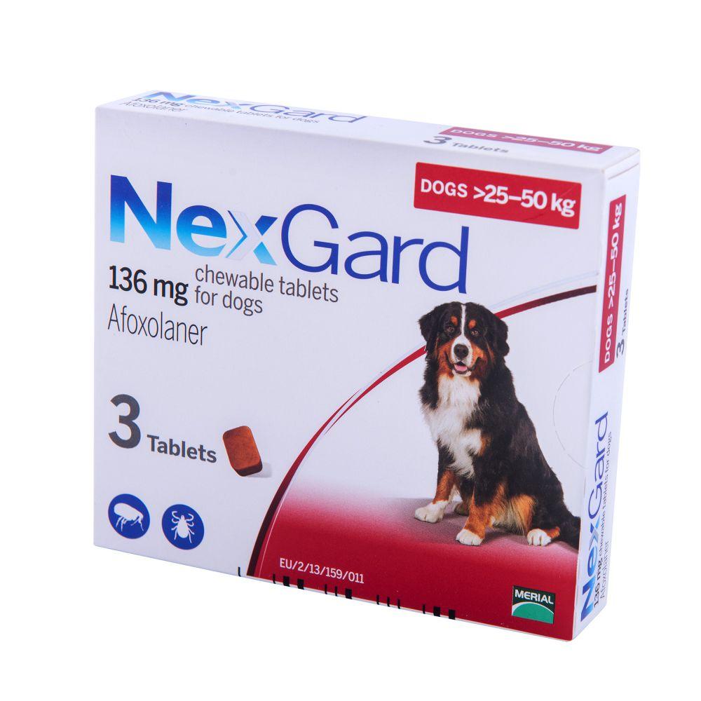 Нексгард Таблетки от блох и клещей для собак от 25 до 50 кг