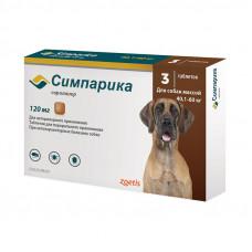 Симпарика Таблетки от блох и клещей для собак от 40 до 60 кг