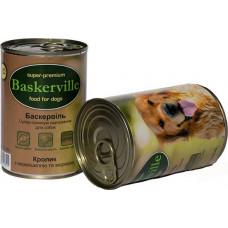 Консерва для собак Baskerville кролик, вермишель и морковь