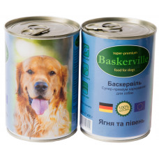 Консерва для собак Baskerville ягненок и петух