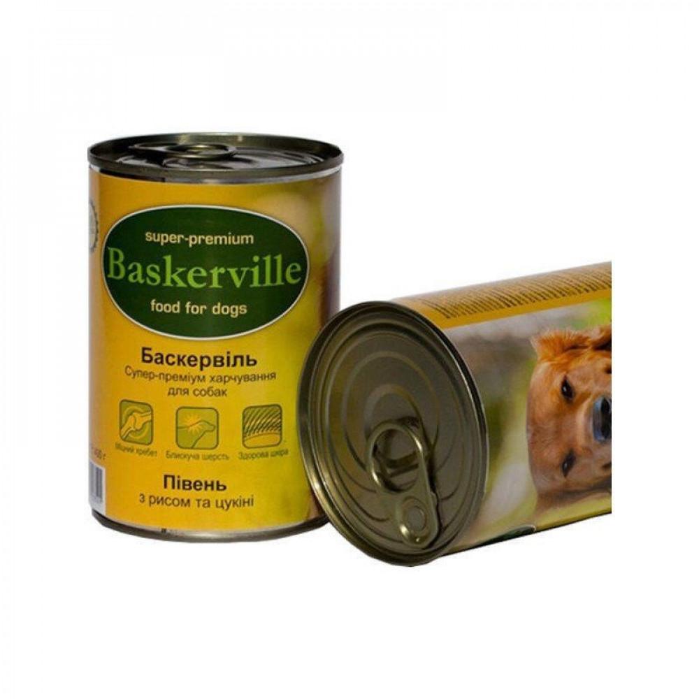 Консерва для собак Baskerville курица, рис и цукини