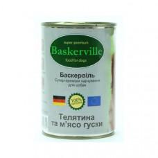 Консерва для собак Baskerville телятина и гусь