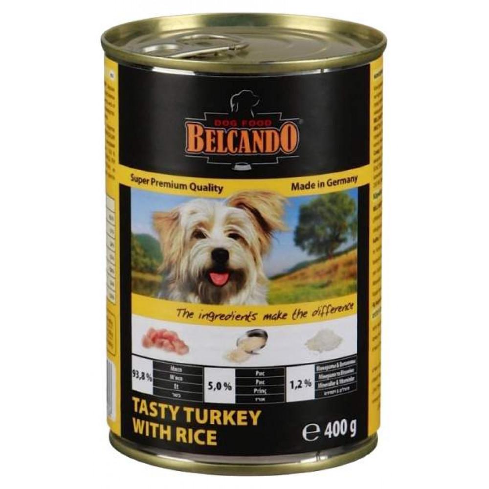 Belcando (Белькандо) Консервы для собак с индейкой и рисом