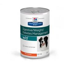 Лечебные консервы Хиллс для собак Hill's Prescription Diet w/d контроль веса, сахарный диабет, колиты, запоры