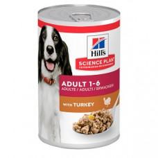 Консервы Хиллс для взрослых собак Hill's Adult с индейкой