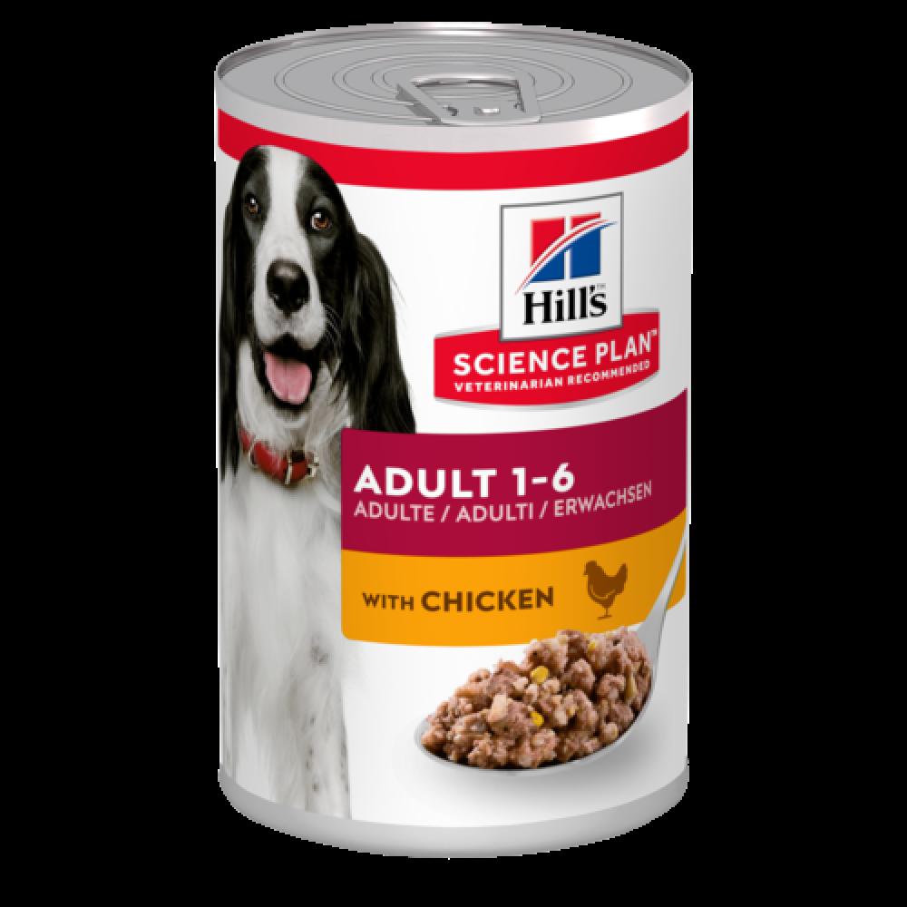 Консервы Хиллс для взрослых собак Hill's Adult с курицей