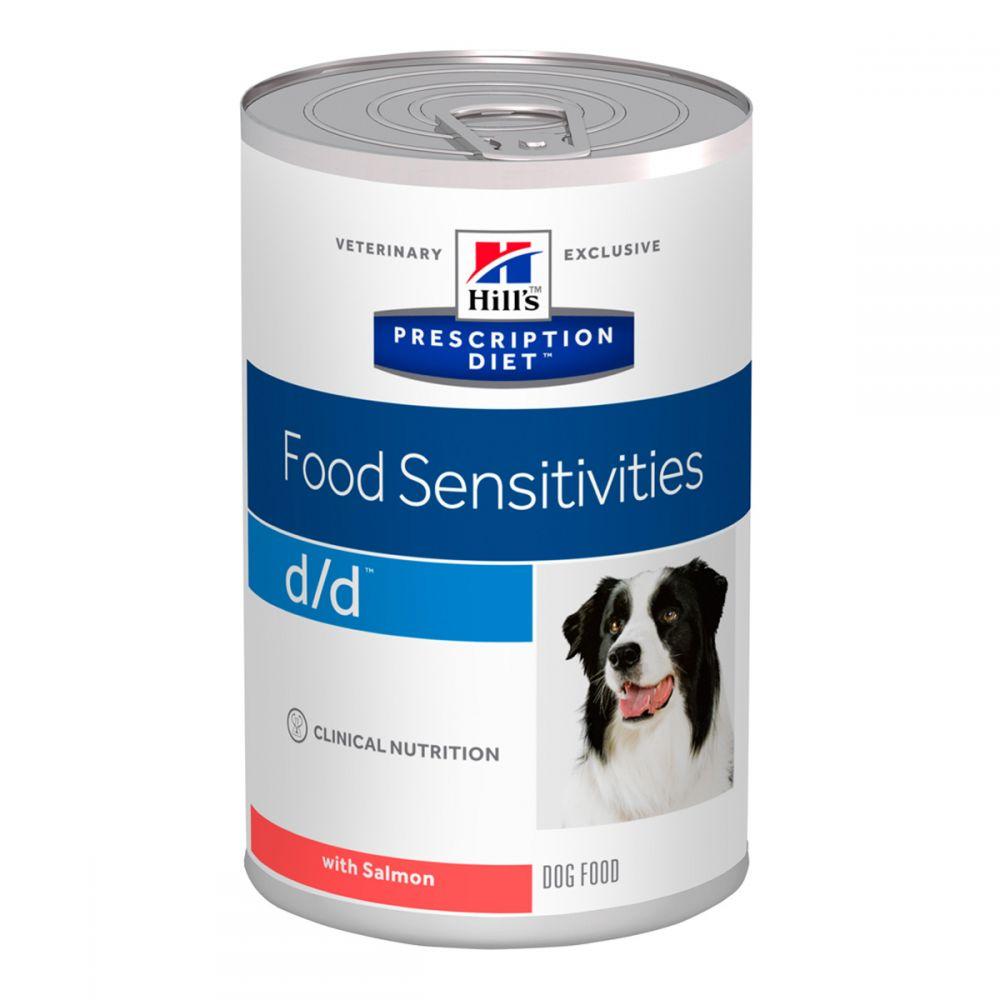 Лечебные консервы Хиллс для собак Hill's Prescription Diet d/d пищевая чувствительность, заболевания кожи с лососем