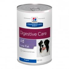 Лечебные консервы Хиллс для собак Hill's Prescription Diet i/d Low Fat панкреатит, гиперлипидемия, чувствительность к жиру