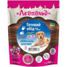 Влажный корм для собак Леопольд Готовый корм с говядиной и сердцем 500 г